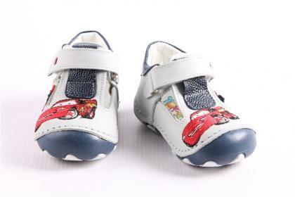Pepee Erkek Çocuk Gri Hakiki Deri Phaylon Taban Ortopedik İlk Adım Bebe Ayakkabı