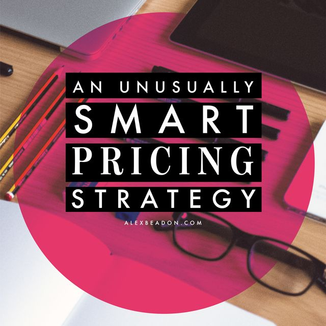 An Unusually Smart Pricing Strategy --> http://www.alexbeadon.com/2014/07/30/an-unusually-smart-pricing-strategy/