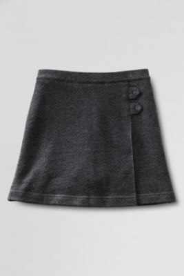 School Uniform Knit Skort from Lands' End comes in navy and khaki up to size 16