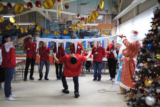 """Поздравление сотрудников гипермаркета """"АШАН"""" ТЦ Vegas #kvantil-event"""