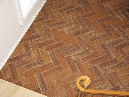Porcelain Wood Tiles Smaller Size Herringbone Pattern