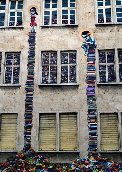 Street Art from Bookstore in Næstved, Denmark
