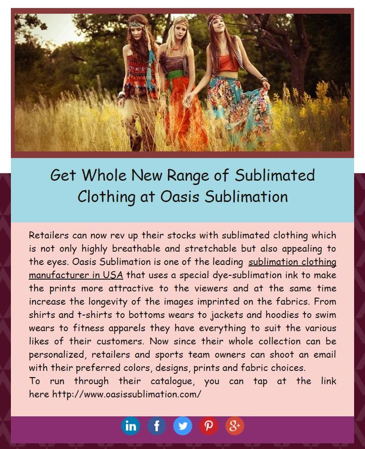 Get Whole New Range of Sublimated #Clothing at Oasis Sublimation