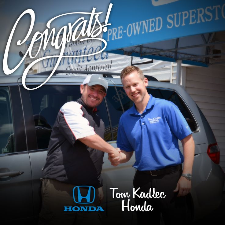 Justin F. next to his 2007 Honda Odyssey from our Pre-Owned Superstore! Sold by Andy Gostomczik