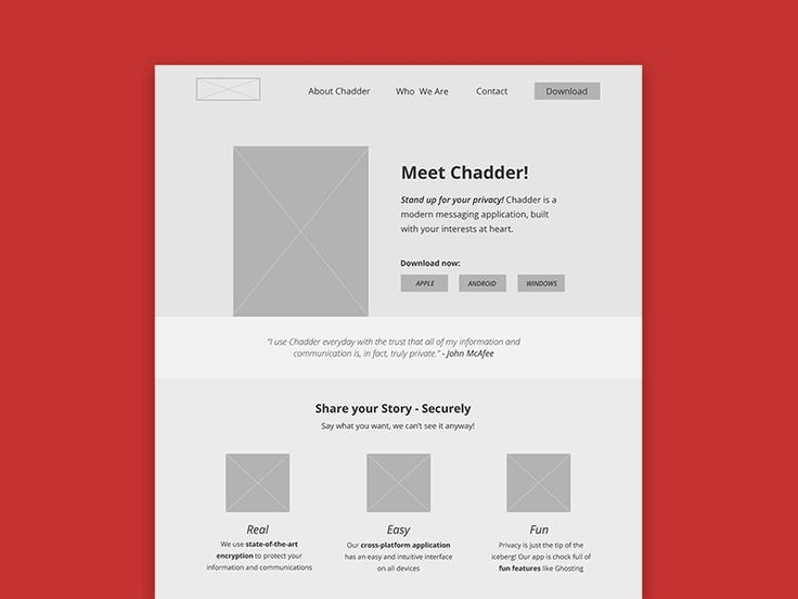 Working on a redesign for Chadder, a private messaging startup currently incubating here at RIT.