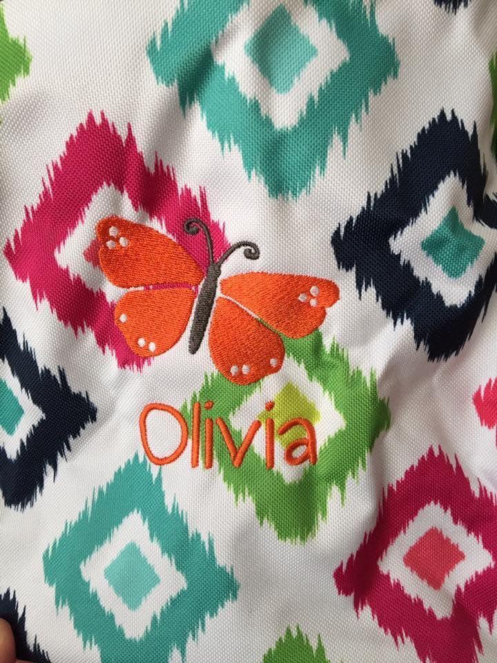 Orange Flutter icon on Candy Corners pattern Kids rugs
