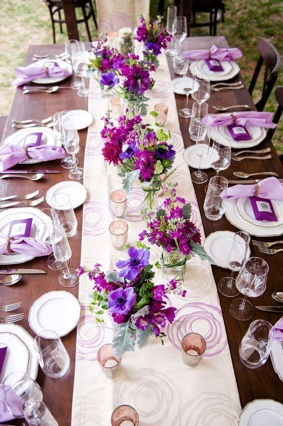 Featured Photographer: Jill Lauren Photography; Wedding reception centerpiece idea