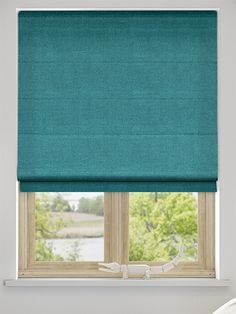 Spectrum Teal Roman Blind from Blinds 2go