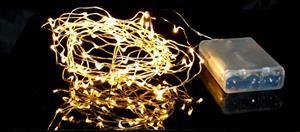 Vánoční řetěz na baterie 100 LED teplá bílá - délka 510 cm, vnitřní použití