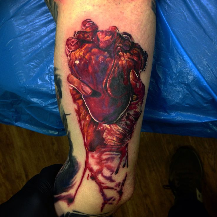 Heart tattoo, process. Done with quantum tattoo ink and inkjecta. Artist Igor Shlykov Instagram - saver09