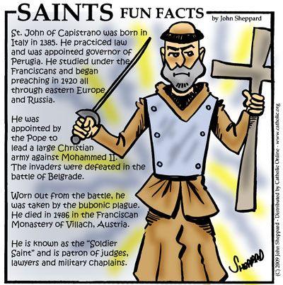 St. John of Capistrano: Saint of the Day for Wednesday, October 23, 2013