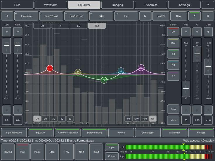 Audio Mastering Studio: Audio Mastering for iPad