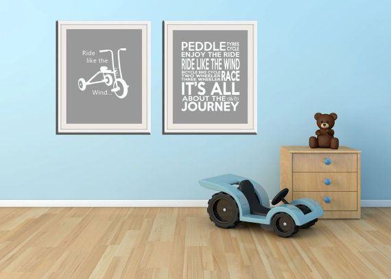Transport Combo Nursery decor baby nursery by SweetSiennaPrints