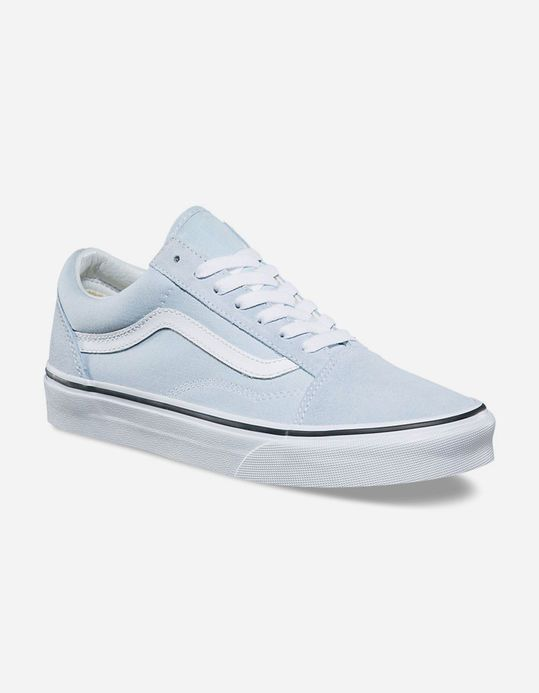 676a7ecdae3e37 VANS Old Skool Baby Blue   True White Womens Shoes - BYBLU - 318387222