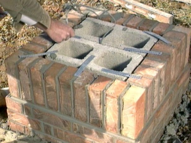stone mailbox designs | Step 4: Complete the Foundation and Brickwork to Mailbox Height