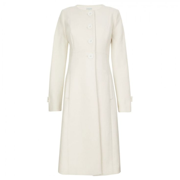 Cream Princess Line Maternity Coat | JoJo Maman Bebe