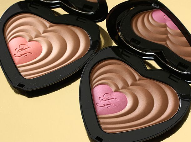 Too Faced Soul Mates Blushing Bronzer in Carrie & Big (left) and Ross & Rachel (right)
