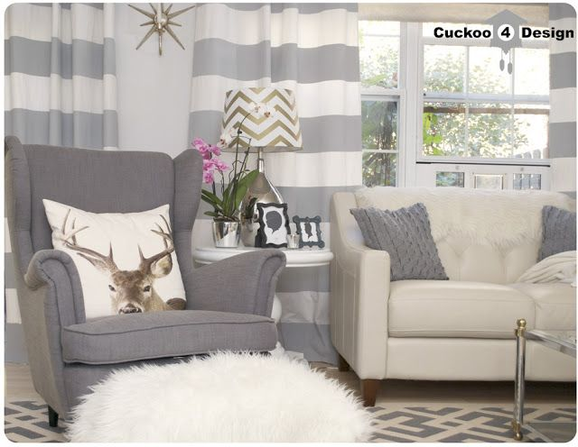 Very cute horizontal curtains. Adds some texture to the room without having to redo the whole room.