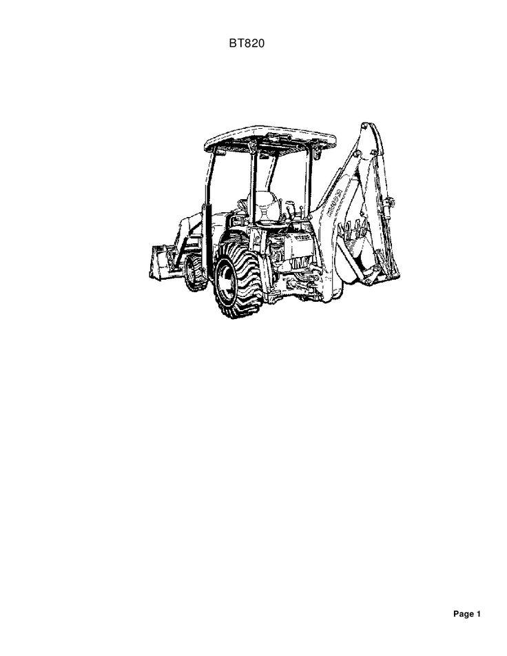 Kubota B26 BT820 Backhoe Part Manual PDF Download