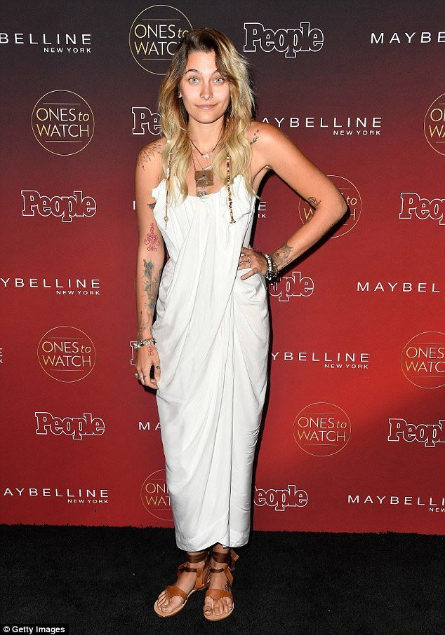 Going Greek: Paris Jackson did not disappoint in the earthy style department on Wednesday night as she made an appearance at the Ones to Watch party in Los Angeles