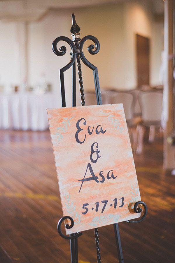 customized wedding sign