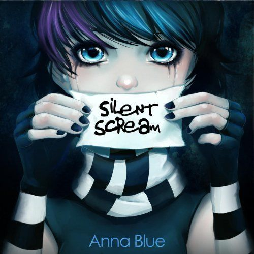 blue emo anime - Google Search<<<< this isn't anime this is a YOUTUBER called Anna blue and that's her song;silent scream