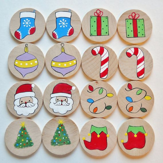 Memory Game Christmas Memory Game waldorf toys by 2HeartsDesire, $10.00