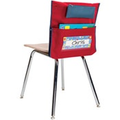 I want these for the back of all the chairs in my room. I can fill it at the beginning of the week with things students will need for each class so I don't waste time passing things out they can just reach behind them! Totally doing this next year!