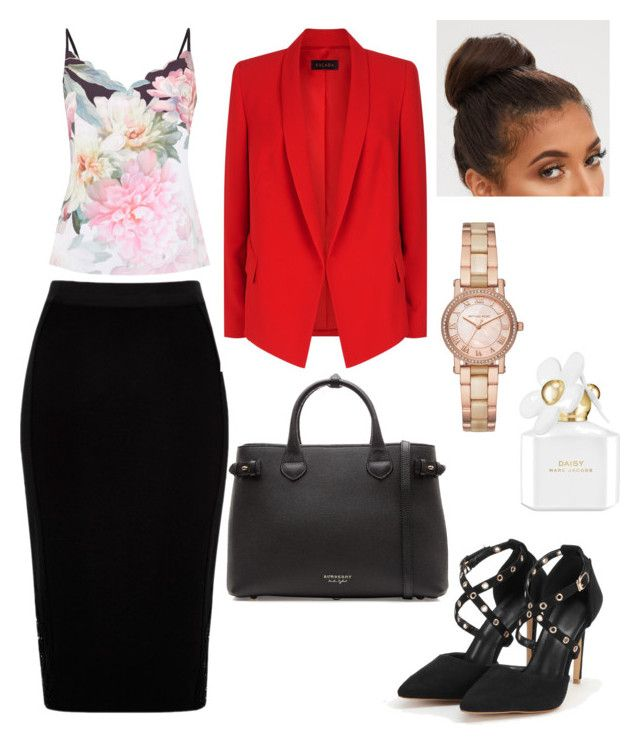 """""""Work Chic Inspiration"""" by rebeccaodil on Polyvore featuring Burberry, River Island, ESCADA, Ted Baker, Michael Kors and Marc Jacobs"""