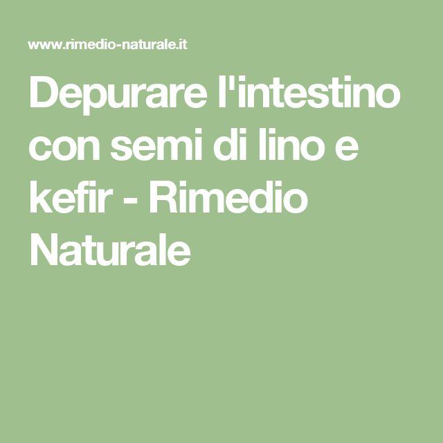 Depurare l'intestino con semi di lino e kefir - Rimedio Naturale