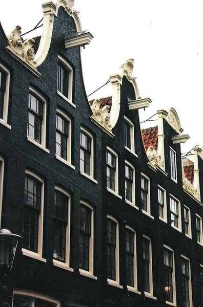 Amsterdam. The furniture is raised via the overhanging pulley and goes in via the window.