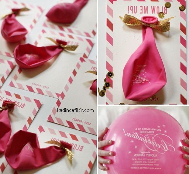 sisirince davetiteye donusen cilgin balon davetiye modeli | Kadınca Fikir