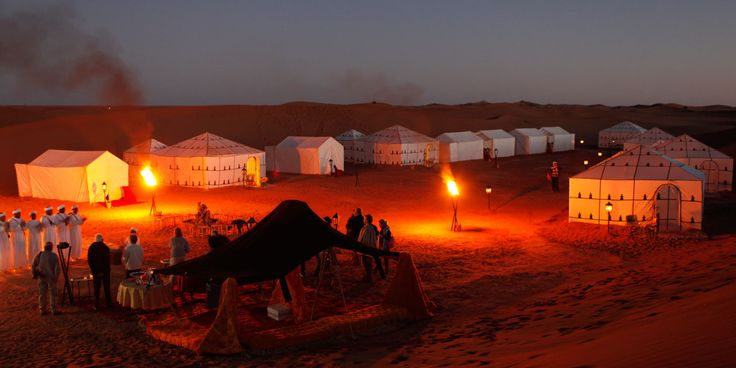 The desert gets a life when the sun goes down.  Don't miss the desert safari if you are in Marrakech. #triptomarrakech #traveltomorocco