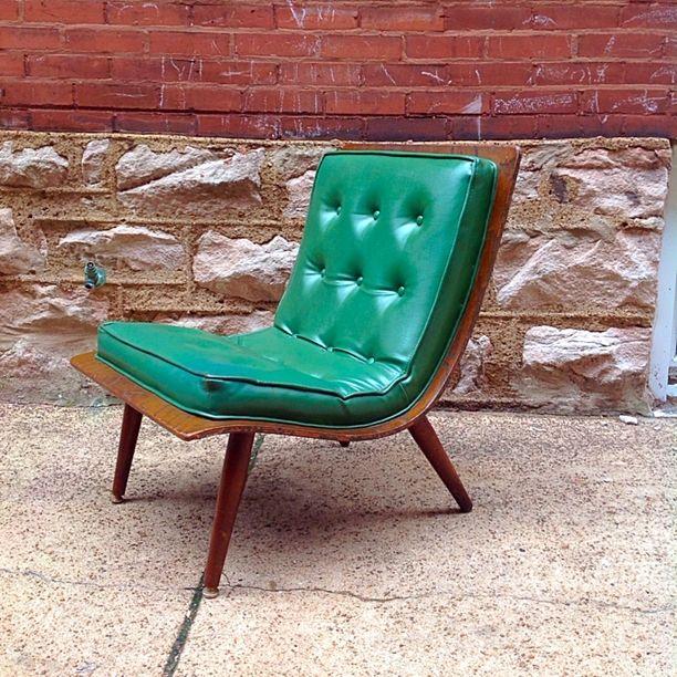 Vintage Mid-Century Modern Carter Bros Bent Plywood Scoop Chair
