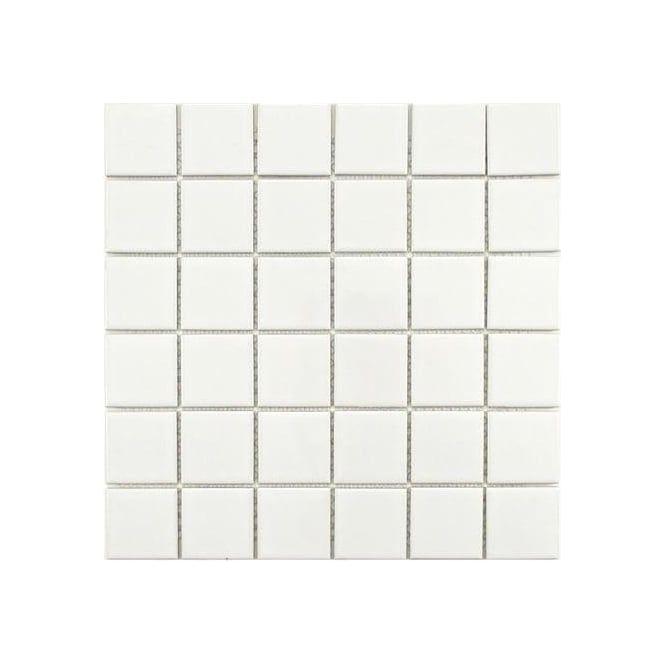 White 48x48mm white. £43.89/m2. 6x6 tiles. Gloss White Square Large 30cm x 30cm Wall & Floor Tiles