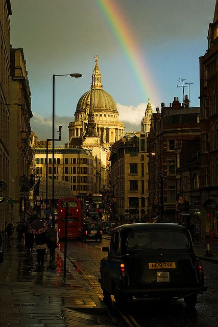 Rainbow in London Town. That is a beautiful shot. St. Paul's is one of my favorite locations in London, and seeing that rainbow just makes the image even more incredible!