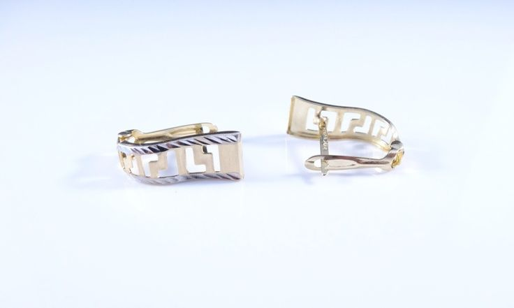 $115 14K Gold Earrings, info@bijuterie-online.ro.