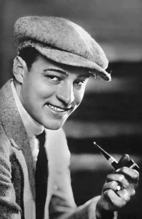 Rudolph Valentino - rare to see him smiling.