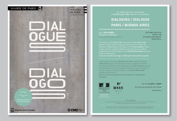 Invitations for Dialogues/Diálogos Exhibition by Alina Najlis, via Behance