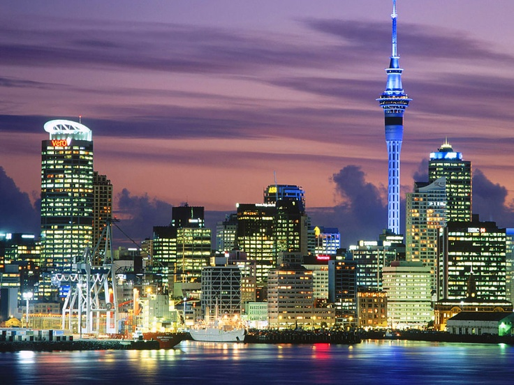 Auckland , New Zealand by night