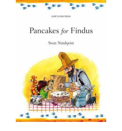 Farmer Pettson attemps to make birthday pancakes for Findus, his talking cat.