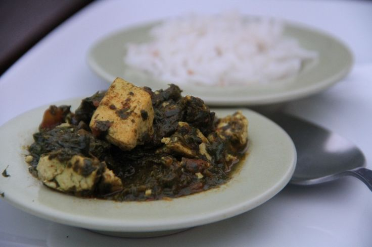 Aromatic curry of fenugreek, spinach and tofu — #Food #Recipe