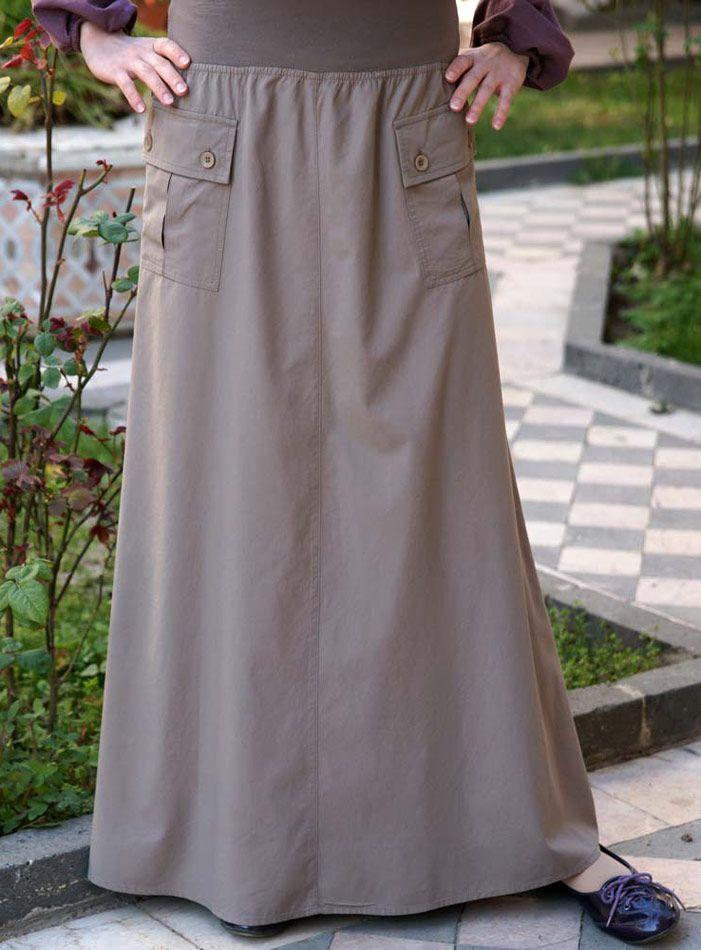 SHUKR USA | Jersey Waist Bamboo Rayon Skirt