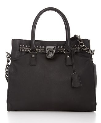 Michael Kors Hamilton Rock & Roll Tote- I died when I saw this in the catalogue and searched all over for it! Finally found it and so worth it. LOVE this bag with the gunmetal studs
