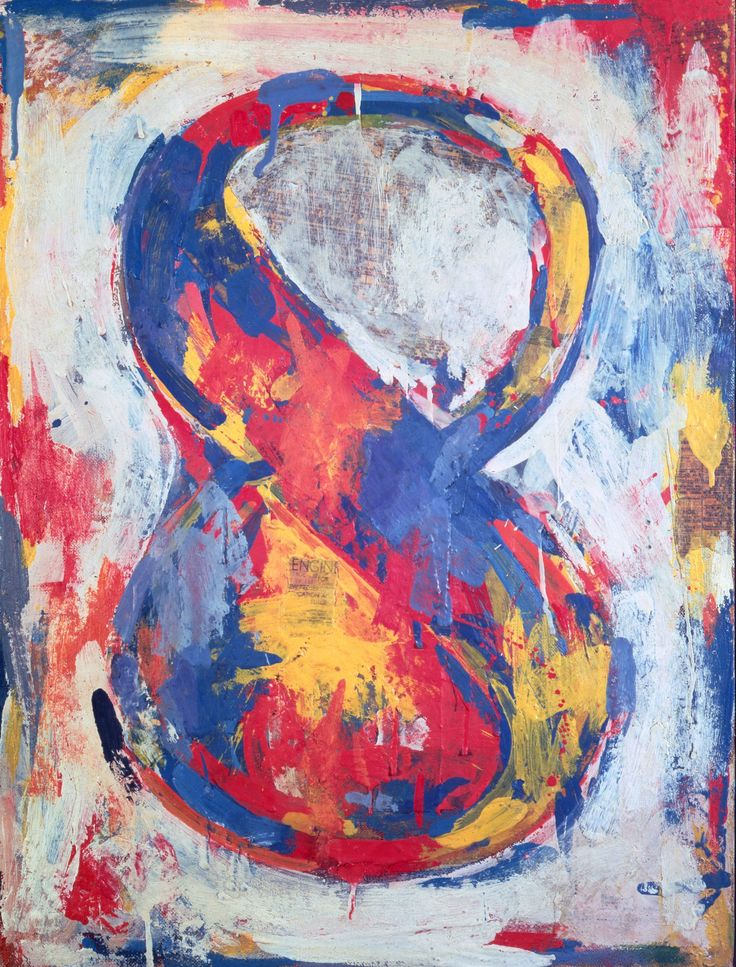 Jasper Johns – Figura 8 (Figure 8), 1959. The Sonnabend Collection. Prestito a lungo termine presso Ca' Pesaro, Galleria Internazionale d'Arte Moderna, Venezia, Nina Sundell e Antonio Homem © Jasper Johns | Artribune
