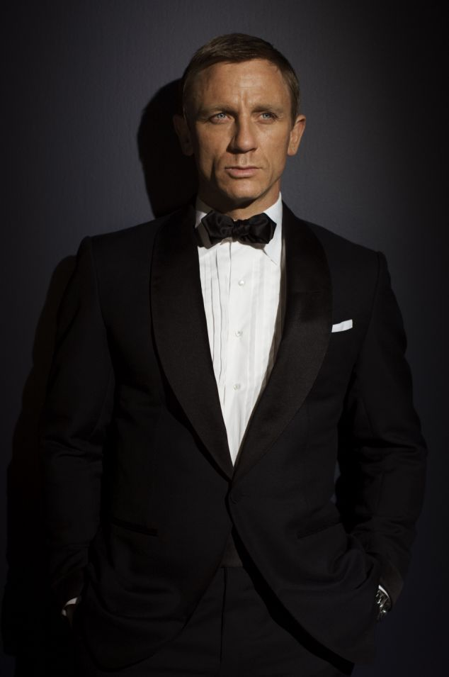 Ford. Tom Ford. Amazing. In Skyfall he was dressed head to toe in Tom Ford suits and tuxes.