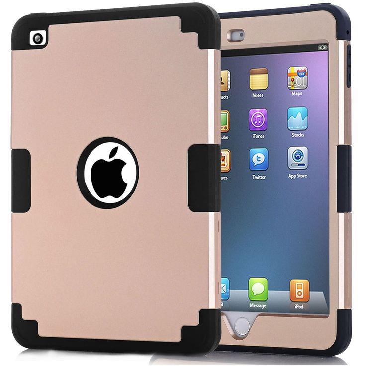 For Funda iPad Mini 4 Cover Shock-Absorption Silicone High Impact Resistant Hybrid Three Layer Armor Cover Case for iPad Mini 4