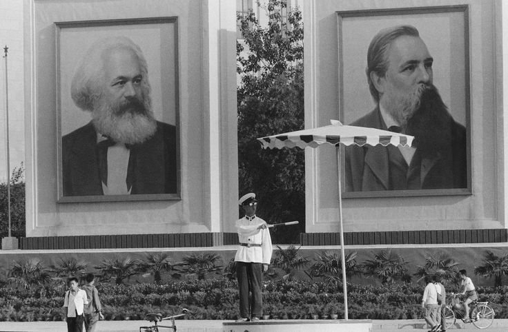Karl Marx and Friedrich Engels - AP Photo/Horst Faas