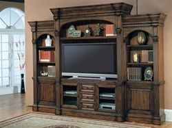 Genoa 60-Inch TV 5Pc Wall System in Antique Vintage Dark Pecan Finish by Parker House – GEN-600-5WS