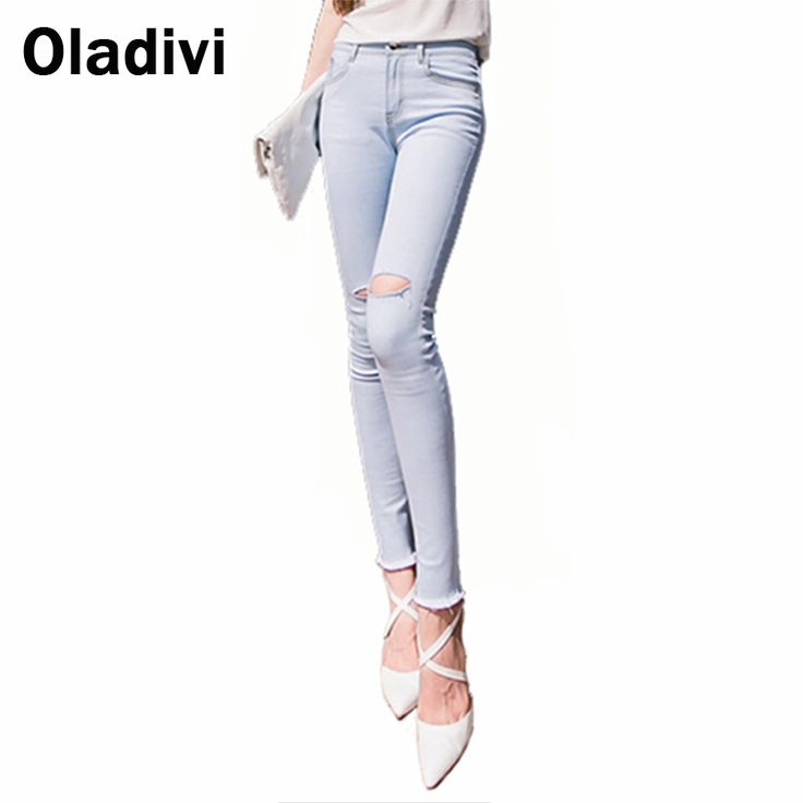 Find More Jeans Information about 2015 Korean New Fashion Vintage Pencil Pants Female Casual Jeans Lady Retro Sknny Denim Leggings Destroyed Jeans for Women Blue,High Quality jeans japan,China jean lace Suppliers, Cheap jeans for women with big thighs from Oladivi Group - Minabell Fashion Store on Aliexpress.com